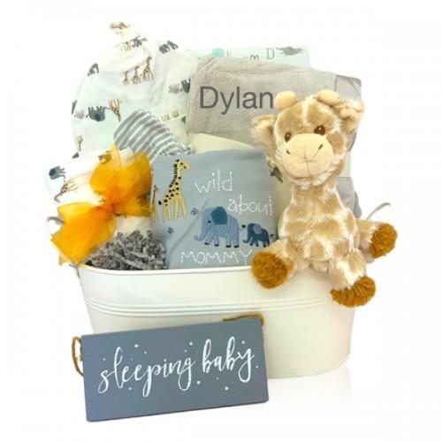 Organic Baby Safari Gift Basket