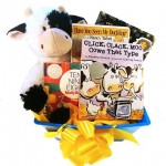 Baby Gift Basket with Brilliant Award Winning Caldecott Books