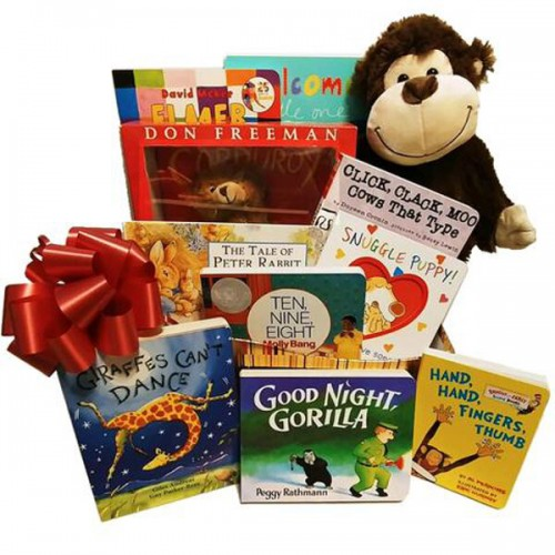 a78eb95deeebf Charming Baby s First Library Gift Basket of Classic Board Books